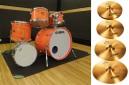ドラムセット+シンバルセット