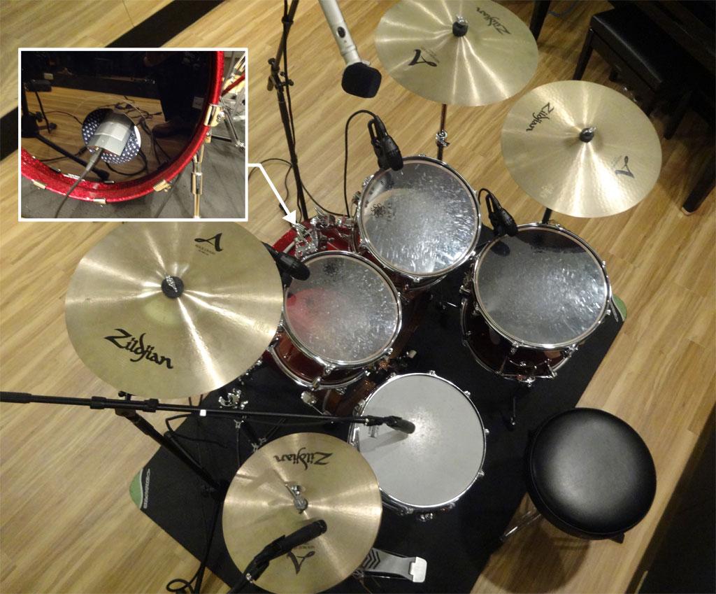 録音・レコーディング設置例